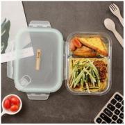 iCook 玻璃分隔饭盒 700ml 送小麦秸秆餐具