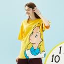Meters bonwe × 爱丽丝联名系列 女士印花T恤 53元包邮¥53