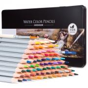 deli 得力 6524 彩色铅笔 72色 铁盒套装 *4件