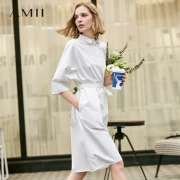 Amii 1192TM0120 赫本风气质衬衣连衣裙低至115.9元