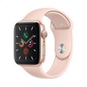 Apple Watch Series 5智能手表(GPS款 44毫米金色铝金属表壳 粉砂色运动型表带 MWVE2CH/A)
