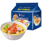 限山西新疆:康师傅 方便面 大食袋鲜虾鱼板面 五连包 *2件