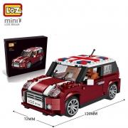 LOZMINI 小颗粒积木 迷你拼插积木车模 模型玩具