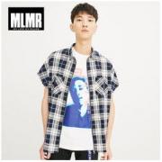 MLMR 218104510 男士格纹衬衫衬衣
