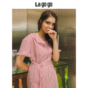 Lagogo 拉谷谷 女士学院风连衣裙59.85元包邮