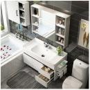 Uniler 联勒 实木免漆浴室柜 清风经典款80cm 雅白998元