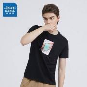 真维斯 JW-01-173TB588 男士纯棉印花T恤