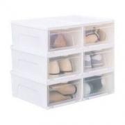 IRIS 爱丽思 NSB-340 塑料透明鞋盒 6只装 *2件
