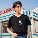 GLM男装2020夏季新款复古天使印花短袖棉简约半袖T恤券后54元包邮