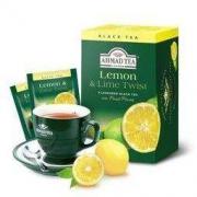 英国亚曼AHMAD TEA柠檬红茶包 水果调味红茶袋泡茶2g*20包 *3件