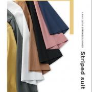 冰丝T恤女短袖修身夏季女装2020年新款纯色体恤v领上衣打底衫t桖