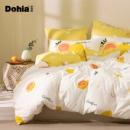 PLUS会员:多喜爱(Dohia)床品套件  四件套纯棉 蜜柚初夏 1.5米床 203*229cm219元包邮