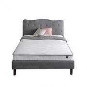 Zinus(际诺思)宜家风格卧室 床垫 15cm厚海绵护脊双人褥整网弹簧床垫 爱琴海M1/M2