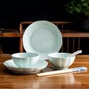 京东PLUS会员:應州東進 中式青瓷陶瓷碗盘碟套装 青瓷 8件套装19.9元包邮(多重优惠)