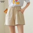 ENBEITI 恩贝缇 LY8850 女士棉麻短裤 9.9元(需用券)¥10