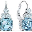 Swarovski 施华洛世奇 Sparkling系列 海蓝色穿孔耳环prime直邮到手564.83元