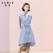 Semir 森马 113-331157 女士不规则条纹连衣裙59.99元包邮(需用券)