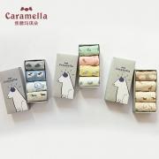 Caramella 焦糖玛奇朵 51244-1 女士袜子 4双装 19.8元包邮(需用券)¥20