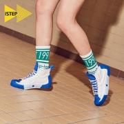 iStep 丑娃娃联名款 SWGW93044 女士高帮帆布鞋