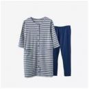 网易严选 家居服日式月子服可哺乳 藏青色74.7元