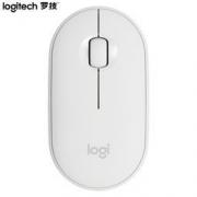 Logitech 罗技 Pebble 轻薄型静音双模鼠标 米白色