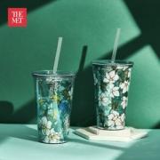 大都会艺术博物馆 鹦鹉木槿花系列 便携吸管杯 两款29元包邮(需用券)