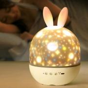 星空投影灯  梦幻音乐盒    音乐盒投影仪+遥控+夜灯+6张胶片78.9元