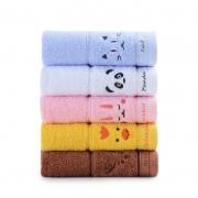 百亿补贴: grace 洁丽雅 儿童纯棉毛巾 48g*5条装