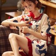 雅模派对  女夏季纯棉短袖睡衣两件套29.9元风尚价正价75元