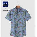 HLA海澜之家 HNECJ2E030A 牛津纺花卉印花衬衫39元包邮(用券)