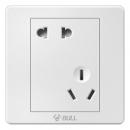 BULL 公牛 G07Z223A 白色错位五孔插座可低至8.4元/件