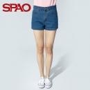 SPAO SPTN921P51 女款牛仔短裤 *3件59.70元包邮(折合19.9元一件)