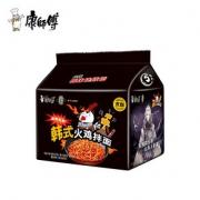 康师傅韩式火鸡拌面 5连包x2香辣麻辣速食袋装方便面