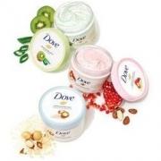 Dove 多芬 Dusch-Peeling 奶油淋浴磨砂膏 含有澳洲坚果和米浆,4瓶装(4 x 225ml)136.24元