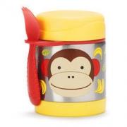 SKIP HOP 可爱动物园保温食壶 猴子 325ml(附魔术汤匙)99元
