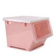 BELO 百露 前开式塑料收纳箱 粉色 *3件73.5元(合24.5元/件)