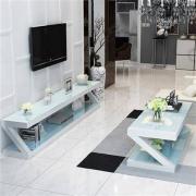 YUANYOU 元优 钢化玻璃 电视柜组合套装