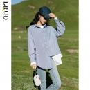 LRUD 0S0285 女士设计感条纹衬衫48元包邮(立减)