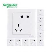 Schneider Electric 施耐德 睿意白 错位五孔插座 10只装59.34元