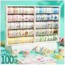 XIYU 西语 惬意秘境 手帐胶带 100卷礼盒装 多款可选34.65元