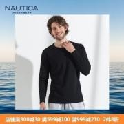 Nautica 诺帝卡 40S精梳棉男士弹力长袖T恤89元包邮(需用券)