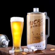 Micro-Bear 麦考熊 栈桥纪念版 精酿黄啤 原浆啤酒 2L