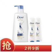 Dove 多芬 密集滋养 洗发水护发素套装(洗发乳700ml+润发精华素195mlx2)44.91元