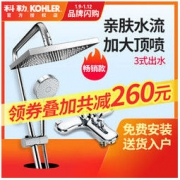 KOHLER 科勒 K-77365T-4-CP 亲氧水随心雨 双花洒淋浴套装1199元