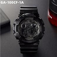 CASIO 卡西欧 G-SHOCK GA-100CF-1A 男士双显运动手表