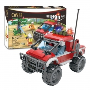 CAYI 开益 2604 消防越野车积木模型212颗粒