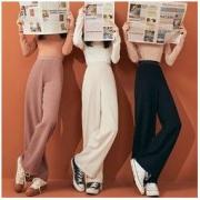 kuose 阔色 KSF2008012 女士高腰垂感针织阔腿裤低至121.12元包邮(需用券)