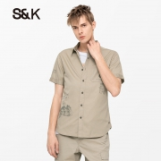 Baleno 班尼路 28904016 男士纯棉工装衬衫