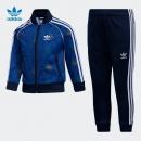 PLUS会员: 阿迪达斯 三叶草2020秋季男小童运动套装GN6788蓝399.2元