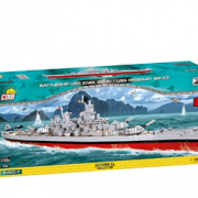 Cobi Historical历史系列 4812 依阿华号战列舰BB-61/密苏里号战列舰BB-63 二合一  直邮含税到手¥940